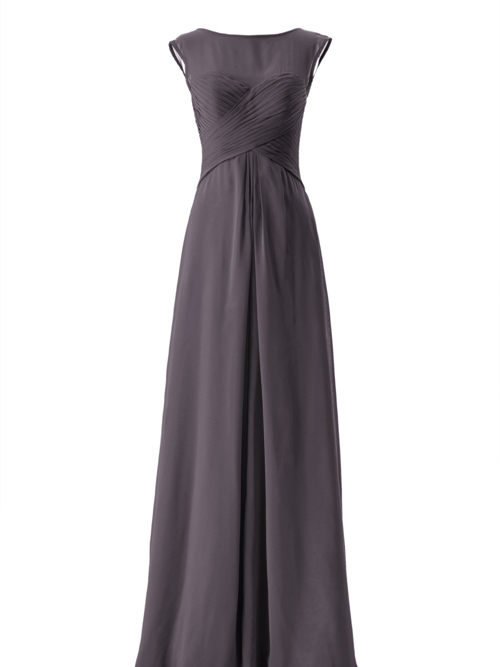 A-line Bateau Chiffon Maid Of Honour Dress