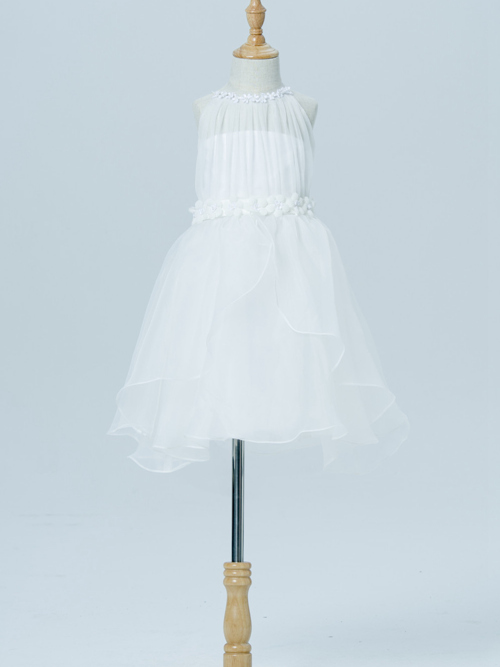 A-line Scoop Chiffon Flower Girl Dress