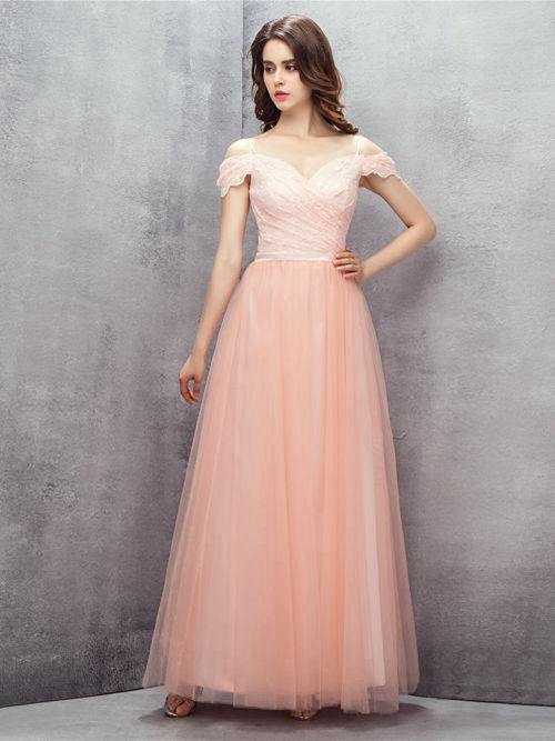 Dreamy A-line Off Shoulder Lace Tulle Matric Dress