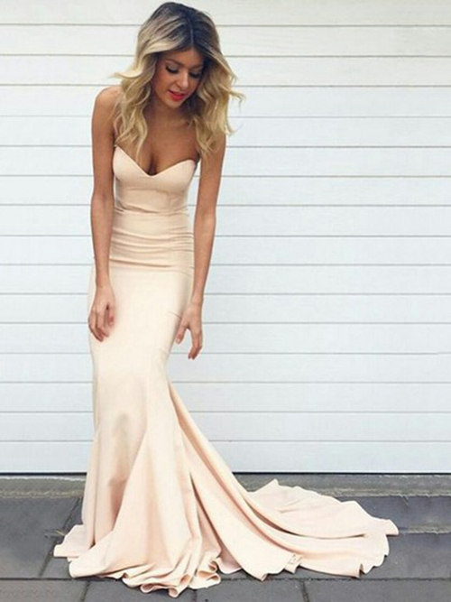 Mermaid Sweetheart Satin Matric Farewell Dress