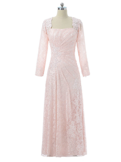 A-line Lace Sleeves Mother Of The Bride Dress