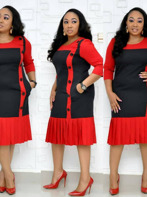 Hot Sale African Sleeves Plus Size Dress