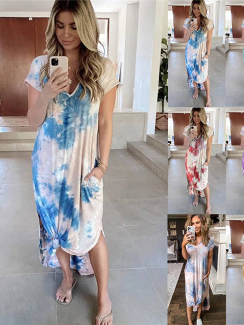 New 2020 Hot Sale Floral Loose Plus Size Dress