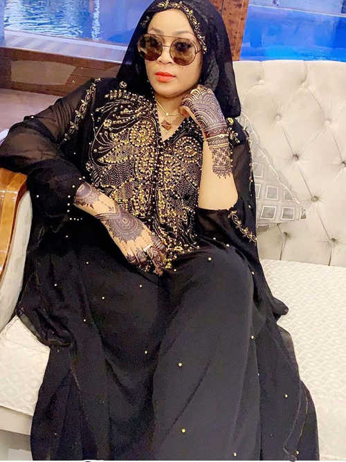 African Muslim Loose Chiffon Cape With Beading