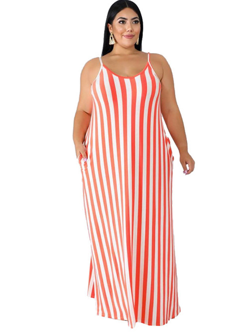 2020 Hot Strips Straps Loose Dress