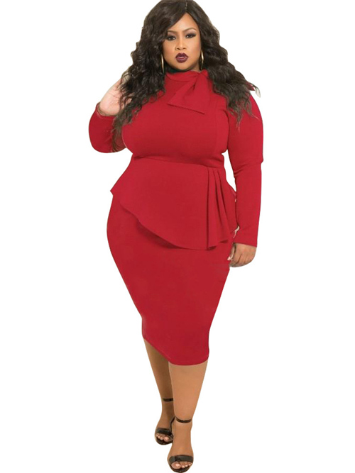 Sheath Sleeves Short Plus Size Dress