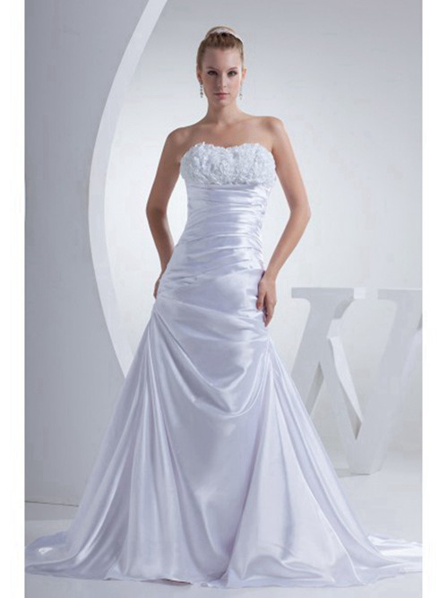 Mermaid Sweetheart Satin Bridal Wear Ruched
