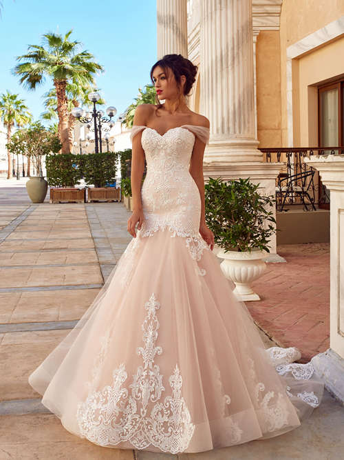 Mermaid Off Shoulder Lace Wedding Wear