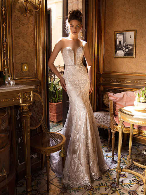 Royal Mermaid Sweetheart Lace Bridal Gown