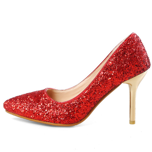 Red Bling High Heels
