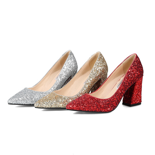 Silver/Gold/Red Wedding Matric Dance Shoes