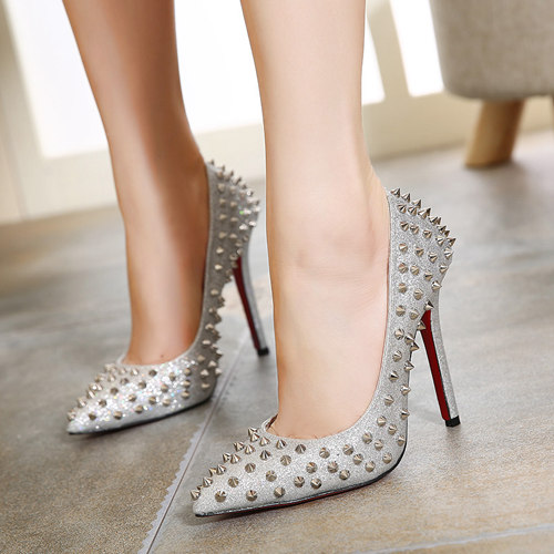 Silver Wedding Party Shoes Rivet