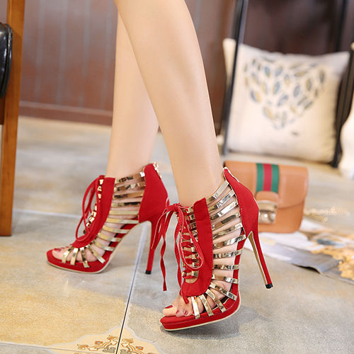 Red Super Wedding Party Boots
