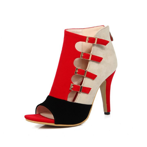 Red Bridal Party Shoes With Zipper